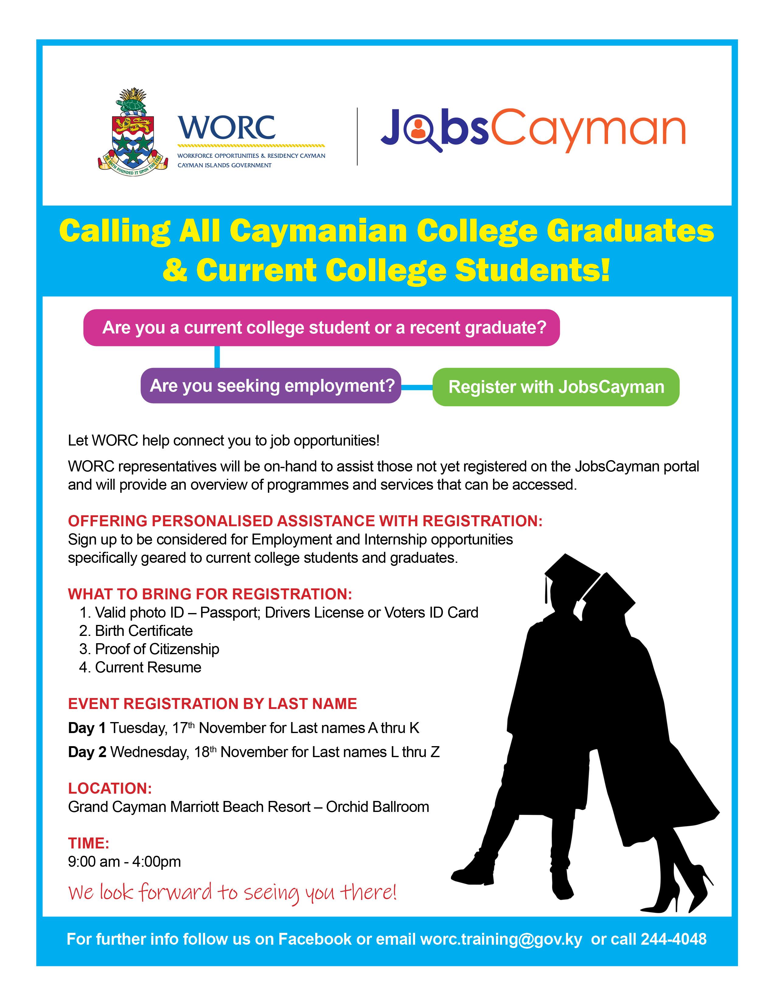 WORC_JobsCayman_Graduates and Current Student Registration Event_Flyer (002)