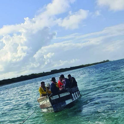 CBC Photo of migrants arriving in Little Cayman Dec 6 2020